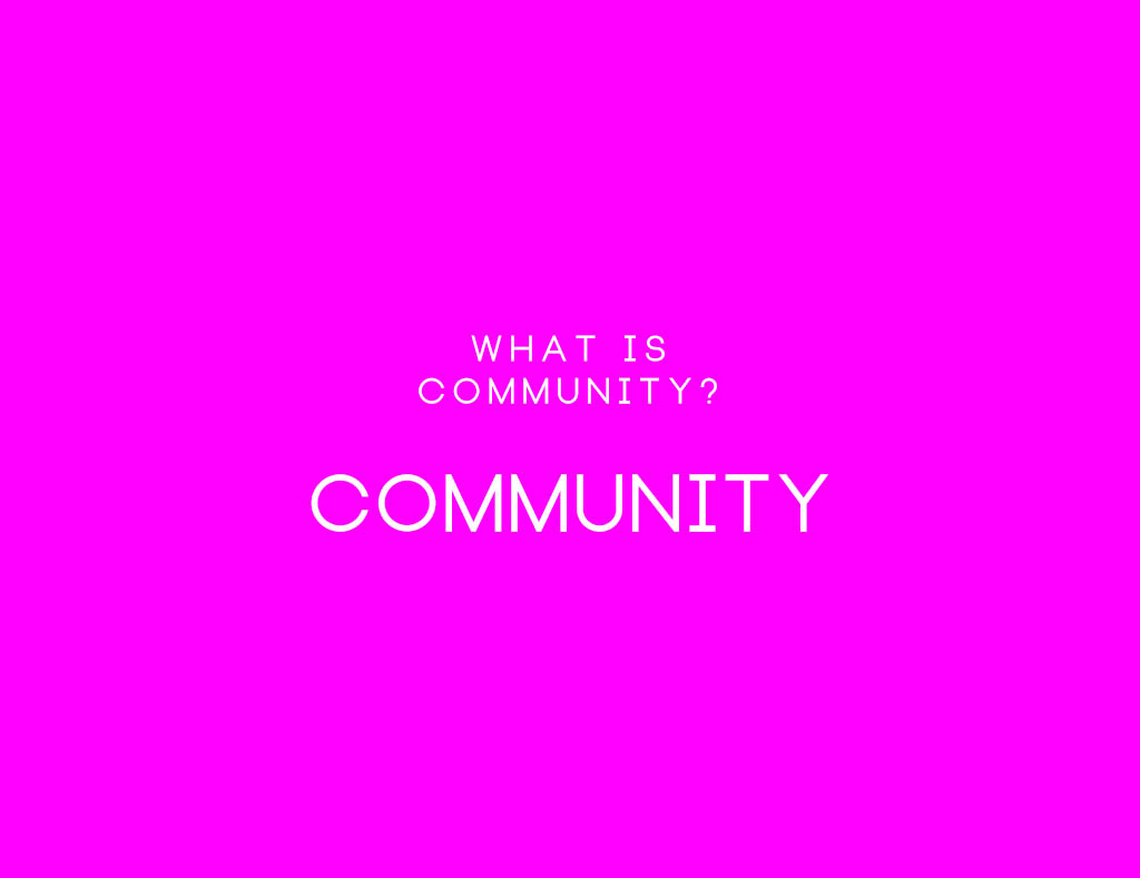 Community: The 2 questions we would like to ask